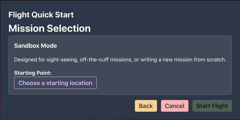 Mission Selection